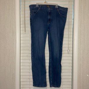 Lee Regular Fit Dark Wash Denim Jeans 42X32